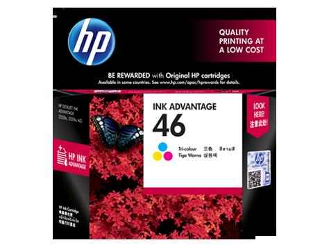 HP 46 ตลับหมึกอิงค์เจ็ท 3สี Tri-Color Original Ink (CZ638AA)