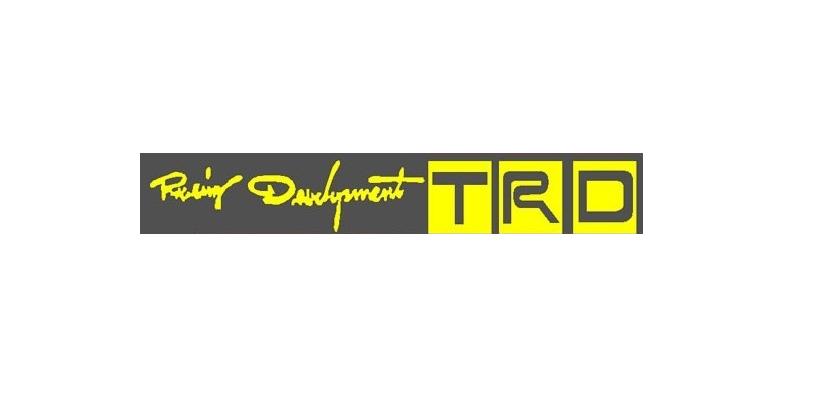 สติ๊กเกอร์ติดรถ ติดมือเปิดประตูรถหน้าหลัง TRD ตัวหนังสือสีเหลือง 1pack/4ชิ้น 12x2cm