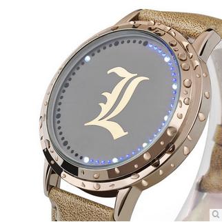 นาฬิกา LED จอสัมผัส Death Note(สีทอง)