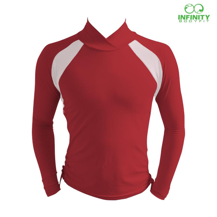 bike shirt สีเลือดหมู-เทา