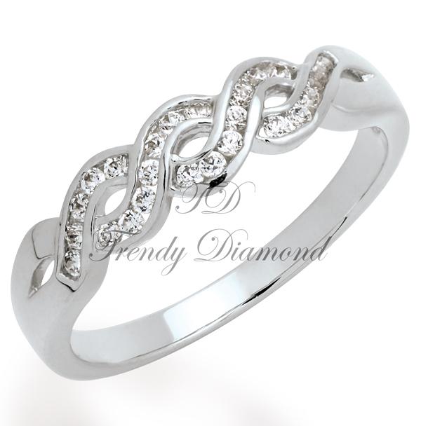 แหวนเพชร แหวนเกวียนล้อ สีทองคำขาว