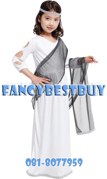 ชุดแฟนซีเด็ก ชุดเจ้าหญิงโรมัน Roman Princess สำหรับใช้เป็นชุดประจำชาติอาณาจักรโรมัน ขนาด M, L, XL