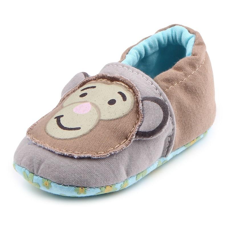 รองเท้าเด็กอ่อน 0-12เดือน รองเท้าเด็กชาย เด็กหญิง ลายลิงน้อย