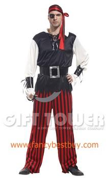 ชุดแฟนซีผู้ชาย ชุดโจรสลัด Cyclopia Pirates ขนาดฟรีไซด์