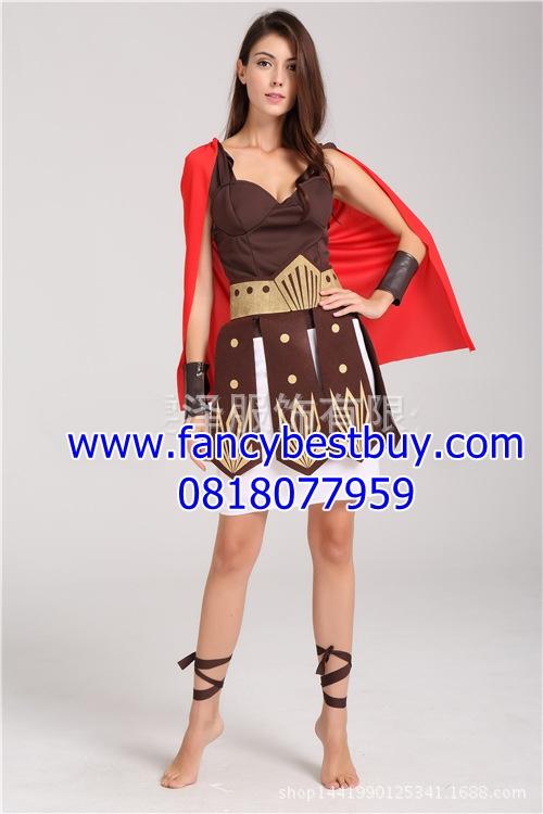 ชุดแฟนซีชุดนักรบโรมันหรือชุดนักรับกรีก รุ่นนี้มีปลอกแขน 1 คู่ ขนาดฟรีไซด์ (สำหรับสูง 155-170 ซม.)