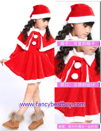 ชุดคริสมาสเด็กหญิง Christmas Costume สำหรับ เทศกาลวันคริสมาส มีขนาด 130, 140, 150