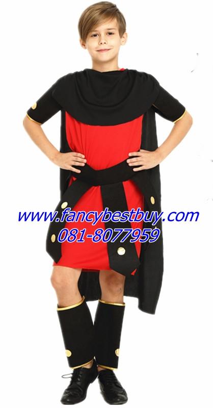 ชุดแฟนซีเด็ก ชุดนักรบโรมันหรือชุดนักรบกรีก รุ่นนี้มีปลอกขา 1 คู่ ไม่รวมดาบ มีขนาด 135-155 ซม.
