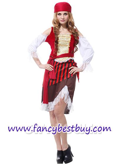 ชุดแฟนซีผู้หญิง โจรสลัดหญิงสุดสวย Pretty Pirate Women ขนาดฟรีไซด์