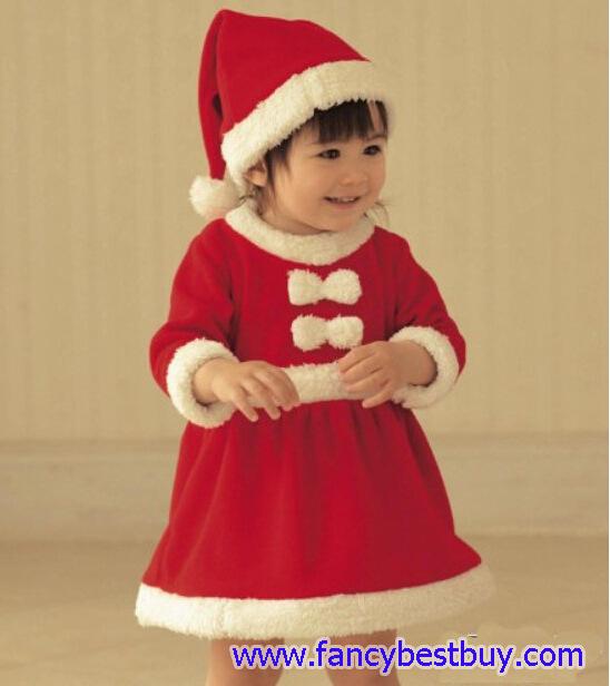 ชุดคริสมาสเด็ก แบบกระโปรง Christmas Costume สำหรับ เทศกาลวันคริสมาส มีขนาด 80, 90