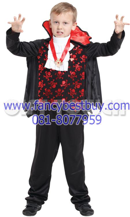 ชุดแฟนซีเด็กแดร๊กคูล่า แวมไพร์ สำหรับวันฮาโลวีน มีขนาด S, M, L, XL