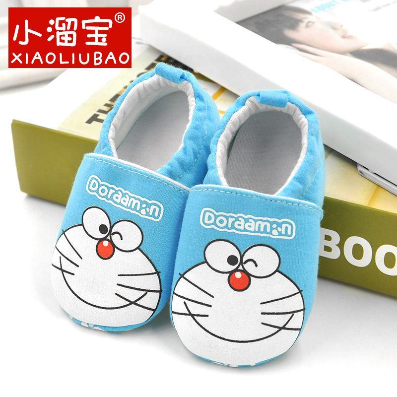 รองเท้าเด็กอ่อน 0-12เดือน รองเท้าเด็กชาย เด็กหญิง ลายการ์ตูน โดราเอม่อน