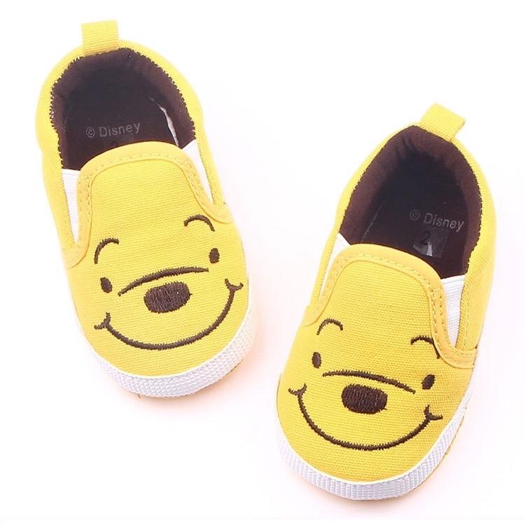 รองเท้าเด็กอ่อน 0-12เดือน รองเท้าเด็กชาย เด็กหญิง ลายหมีพูห์