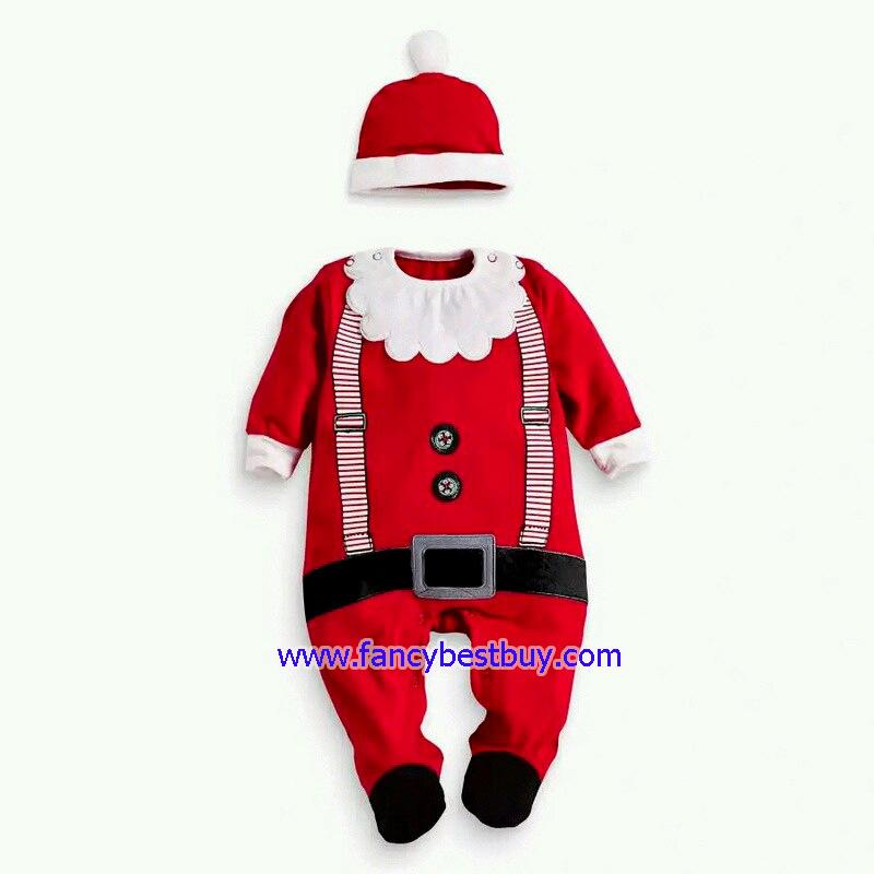 ชุดคริสมาสเด็กเล็กและเด็กทารก Christmas Costume สำหรับ เทศกาลวันคริสมาส(ปลายขาหุ้มขา ไม่ได้หุ้มถึงเท้า) มีขนาด 70, 80, 95