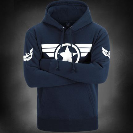 เสื้อฮู้ดกัปตันอเมริกา (Captain America) รุ่น 2