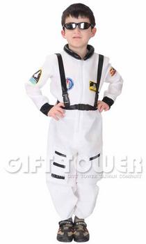 ชุดแฟนซีนักบินอวกาศเด็ก Astronaut สีขาว มีขนาด S. M, L, XL