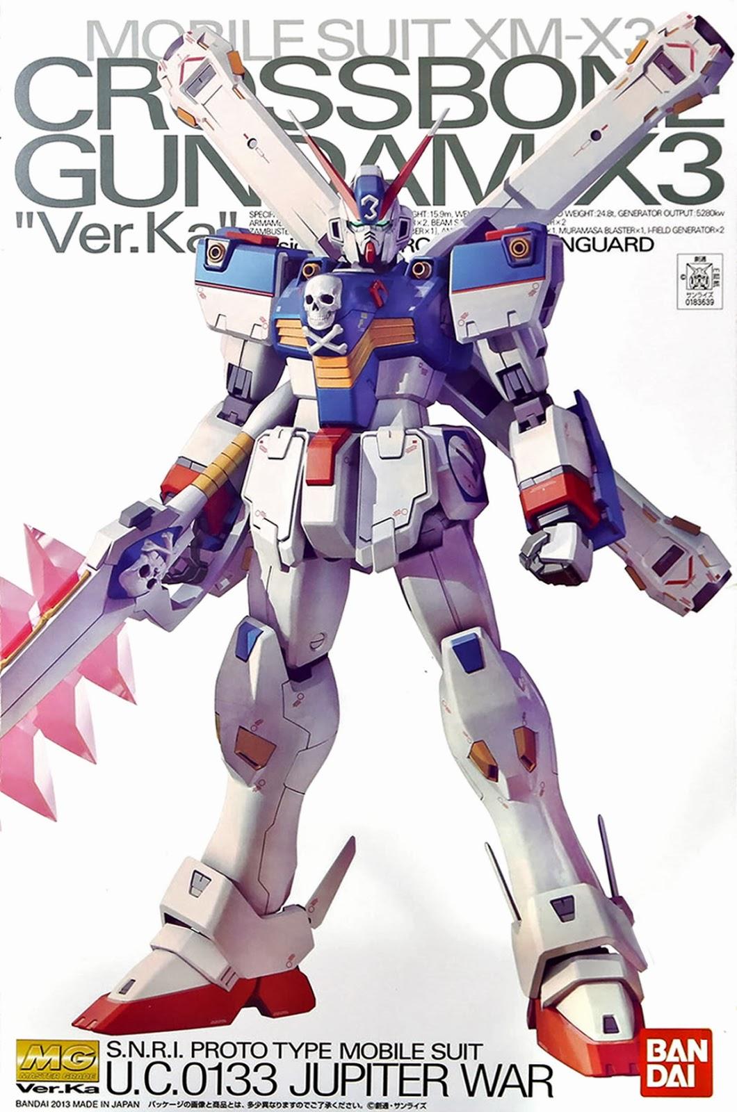 :P-bandai: MG 1/100 Master Grade Crossbone Gundam X3 Ver.ka
