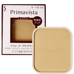 ติดอันดับ 1 ใน 3 ท๊อปของนิตยสารของญี่ปุ่น SOFINA PRIMAVISTA (Refill) สี Beige Ochre 03 (สูตรผิวขาวธรรมชาติ) แป้งพัฟผสมรองพื้นที่ Ishihara ซัง (คุณอิชิฮะระ) ดาราญี่ปุ่นชื่อดังปลาบปลื้มกับแป้งยี่ห้อนี้ที่สุดค่ะ และเธอได้กล่าวว่าใช้แล้วหน้าจะเด็กลง 5 ปี