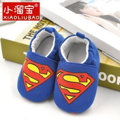รองเท้าเด็กอ่อน 0-12เดือน รองเท้าเด็กชาย เด็กหญิง ลายการ์ตูน ซูปเปอร์แมน