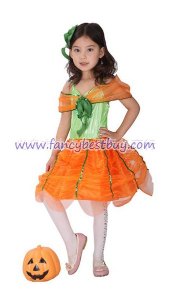 ชุดเจ้าหญิงฟักทองแฟนซีเด็ก Pumpkin Pricess สำหรับวันฮาโลวีน ขนาด L, XL