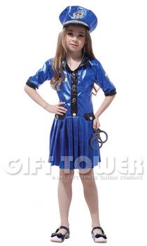ชุดแฟนซีตำรวจหญิง Pretty Police Girl ผ้าออกเป็นแบบเงาๆ ขนาด M, L, XL