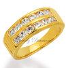 แหวนเพชร แหวนแถวล็อคคู่ สีทอง