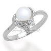 แหวนเพชร Pearl at Hearth สีทองคำขาว