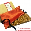 Eye Mask - P&F Relaxing Thai Herbal Filled Yoga Mask/Hot or Cold for Stress,Headache, Migraine,Sinus Relief (Orange)