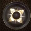 ฆ้องทองเหลืองลงดำขัดเงา 6 นิ้ว