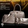 กระเป๋าเซต 3 ใบ สีทอง ทรงสวย ดีไซน์ เรียบหรู น่าใช้มากๆค่ะ