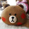 หมอนอิงตุ๊กตาไลน์(หมีน้ำตาล)