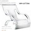 summer monolithic acrylic armchair