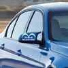 สติ๊กเกอร์ติดกระจกมองข้างรถ Marine สีขาว (1แพ็ค/2ข้าง) 14x8 CM
