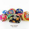 ของที่ระลึกไทย กระเป๋าใส่เศษสตางค์ ขอบทอง (ขนาด: ขอบทองจิ๋ว) ลวดลายช้างการ์ตูน หนึ่งโหลคละสี จำหน่ายยกโหล สินค้าพร้อมส่ง