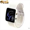 นาฬิกาข้อมือ LED กินทามะ(สีขาว)