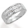แหวนเพชร แหวนแถวล็อคคู่ สีทองคำขาว