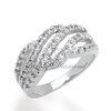 แหวนเพชรCZ เพชรสวิส แหวนธารา สีทองคำขาว
