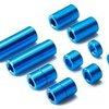 Alu Spacer 5 Types *2 each Blu