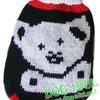 **ไซส์ 0 พร้อมส่งค่ะ** เสื้อถักไหมพรมอุ่น..อุ่น ลายหมี สีดำ-แดง