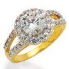แหวนเพชร Queen of Tiffany สีทอง