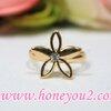 แหวนดอกไม้ทอง 5 กลีบ
