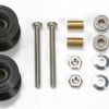 Double Alu Rollers 13-12 mm Blk