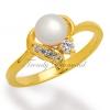 แหวนเพชร Pearl at Hearth สีทอง