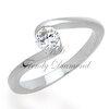 แหวนเพชร Curly Diamond สีทองคำขาว