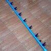 ชุดจ่ายน้ำราง NFT PVC 8 หุนยาว 1.00 เมตร(มีวาวเปิดปิด 5 หัว)