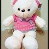ตุ๊กตาหมี ขนนิ่ม ใส่เสื้อสีชมพูอ่อน น่ารักมากๆ