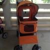 รถเข็นสุนัข คันเล็ก รุ่น E สีส้ม