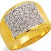 แหวนเพชรCZ เพชรสวิส แหวนอานม้า สีทอง