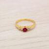แหวนเพชรCZสีแดง ไซส์ 50