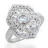 แหวนเพชรCZ เพชรสวิส แหวน Sun Set สีทองคำขาว