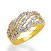 แหวนเพชรCZ เพชรสวิส แหวนธารา สีทอง